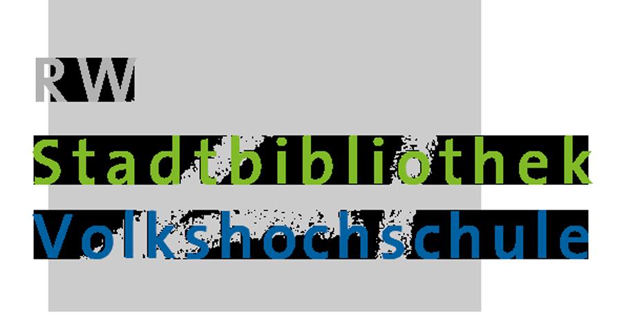 RW21 Stadtbibliothek Volkshochschule – Logo