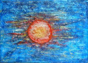 Titel: Urlaubstraum | Künstler: Petra Blume | Bildformat: 60 x 80 cm | Technik: Mixed Media auf Lwd. | Jahr: 2011 | Preis: 230 € | Katalognummer: 54 |