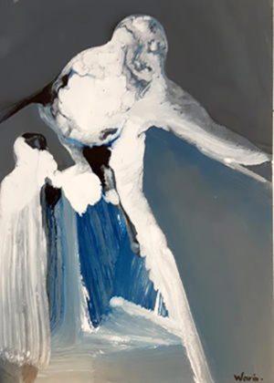 Titel: o. T. (07)   Künstler: Arthand Warin   Bildformat: 70 x 50 cm   Technik: Ölfarbe/Lack auf Karton   Preis: 250 €   Katalognummer: 135