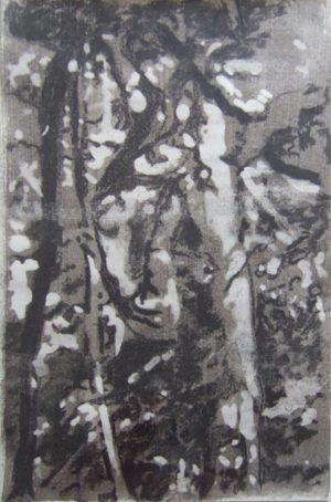 Titel: Lockung   Künstler: Thomas Flemming   Bildformat: 45 x 38 cm   Technik: Kohle a. Papier   Jahr: 2012   Preis: 480€   Katalognummer: 11  