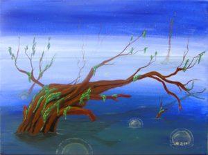 Titel: Mystik Swamp   Künstler: Birgit Noll   Bildformat: 30 x 40 cm   Technik: Acryl, Leinwand   Preis: 160 €   Katalognummer: 119