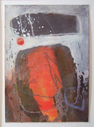 Titel: Jahresbilder - Ans(ch)ichten 17.3.2009 | Künstler: Monika Pellkofer | Bildformat: 32,5 x 26,5 | Technik: Mischtechnik a. Papier | Jahr: 2009 | Preis: 210€ | Katalognummer: 5 |