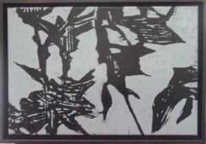 Titel: o.T. 2   Künstler: Bernd Romankiewitz   Bildformat: 36 x 51 cm   Technik: Farbholzschnitt (Unikat)   Jahr:   Preis: 500€   Katalognummer: 70  