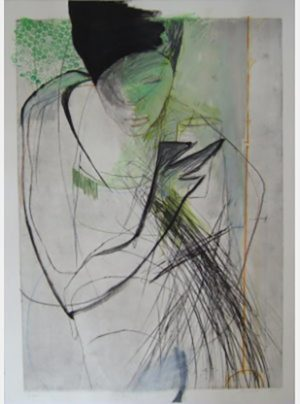 Titel: Selbst | Künstler: Tina Wohlfahrt | Bildformat: 107 x 76 cm | Technik: Radierung | Jahr: 2006 | Preis: 1130€ | Katalognummer: 45