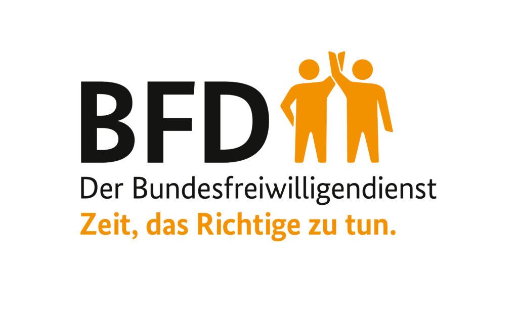 BFD Logo – Der Bundesfreiwilligendienst. Zeit, das Richtige zu tun