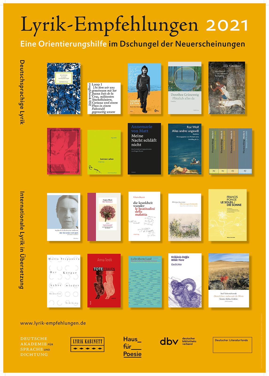 Plakat-Präsentation zum Welttag der Poesie