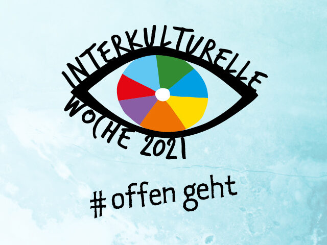 Logo in Form eines Auges mit Schriftzug