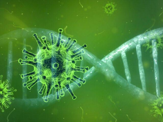 Coronavirus in grün